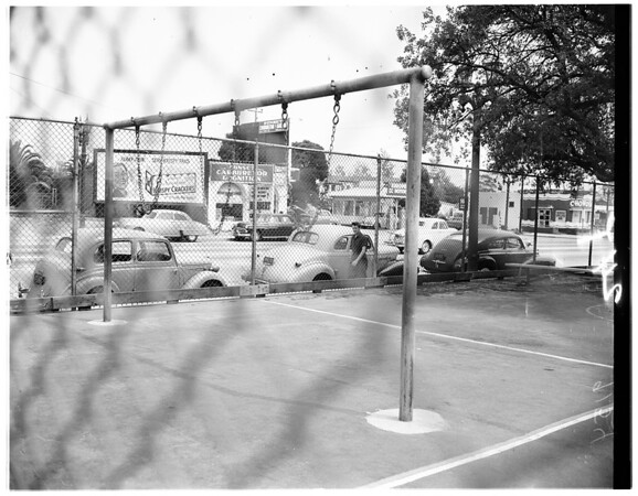 Playground accident victim, 1951