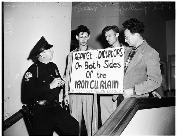 Los Angeles City College speech makers, 1951
