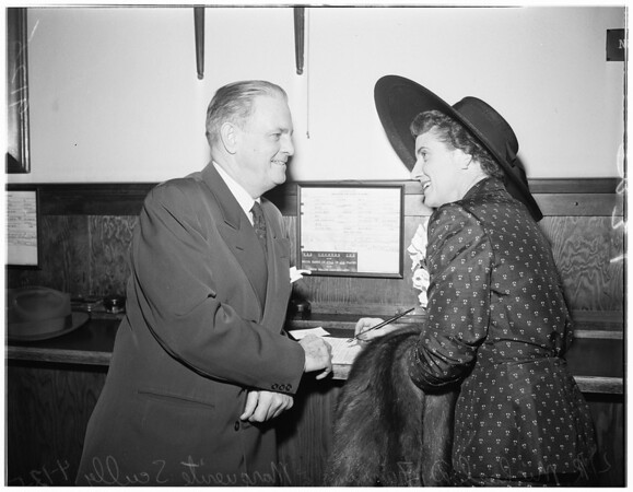 Marriage license, 1951