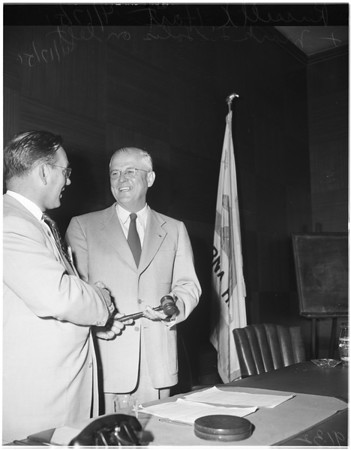 New Santa Monica Mayor, 1951