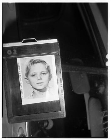 Missing juvenile -- Houghton boy, 1951