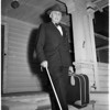 Blind world traveler, 1951