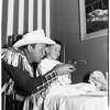 Roy Rogers visits at St. Joseph's Hospital (Burbank), 1951