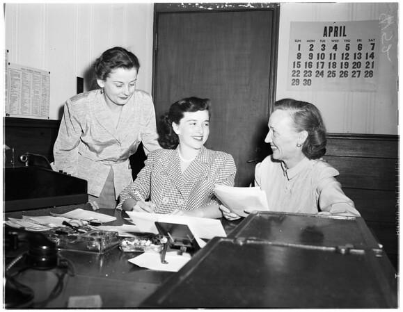 """For """"Deadlines"""", 1951"""