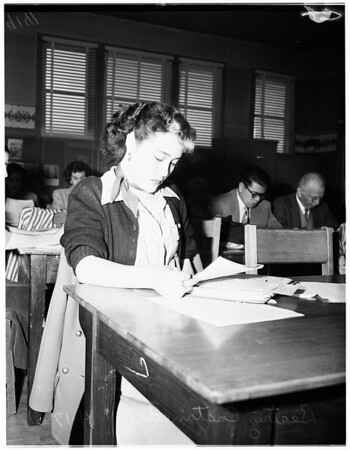 Citizenship classes, 1951