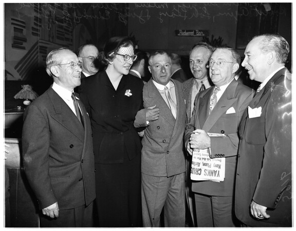 Judge Brand reception, 1951