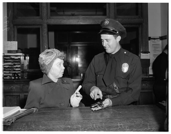 Woman shoots at kids, 1951