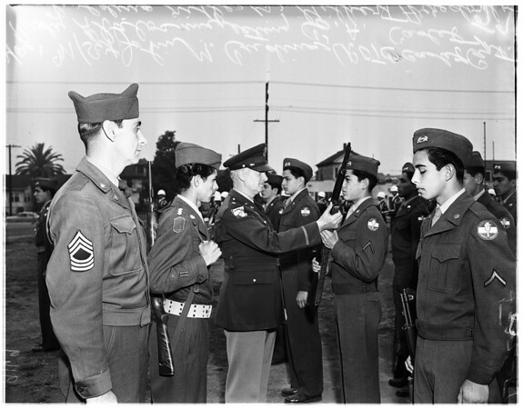 Roosevelt High R.O.T.C. federal inspection, 1951