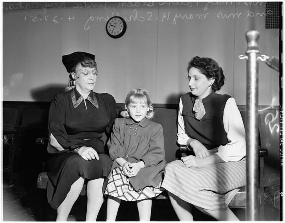 Custody case -- Guardianship, 1951