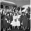 Shrine women leave on bus for Texas National Convention, 1951