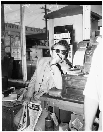 Bookie arrest (1669 North Main Street, Los Angeles), 1951
