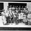 Patricia Hull (with her school class), 1951