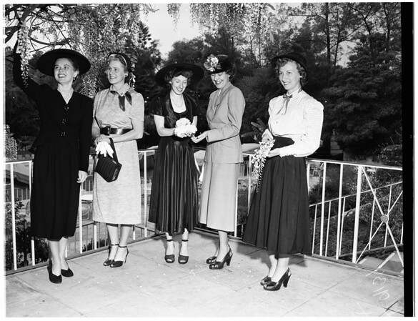 Los Angeles District Federation of Women's Clubs, Juniors at a Pasadena Hotel, 1951