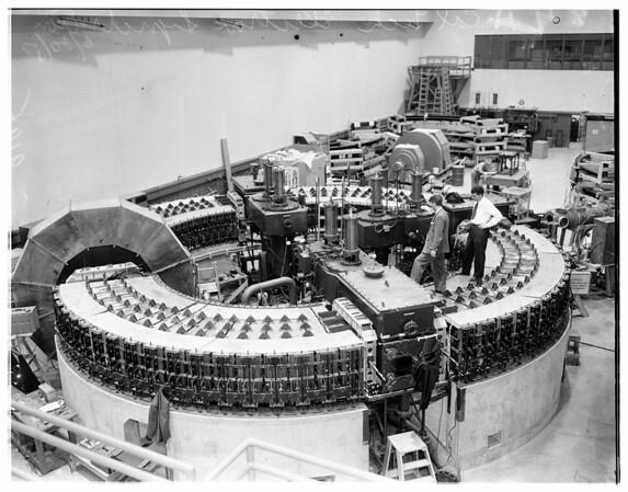 Caltech electron synchrotron, 1951