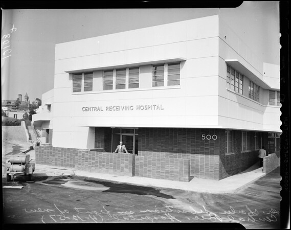 New central receiving hospital, 1956