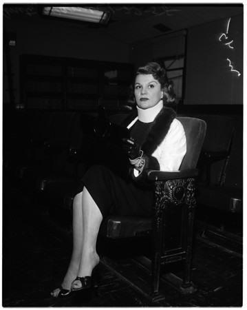 Estate hearing, 1958