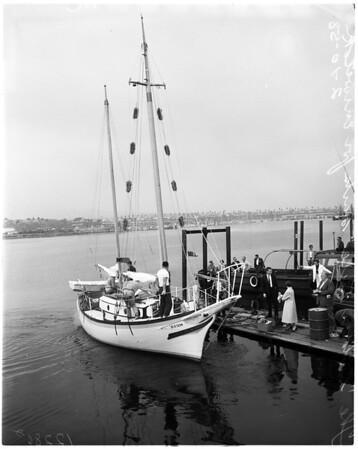 """The Golden Rule"" sails, 1958"