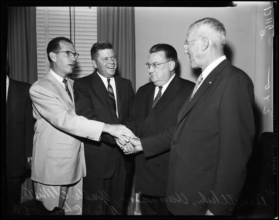 Baseball meeting, 1957