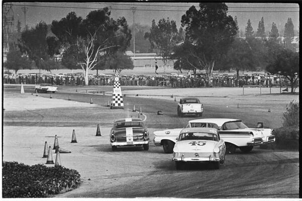 Auto -- races -- Pomona stock car, 1958