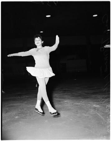 Skating -- Los Angeles Figure Skating Club competition, 1958