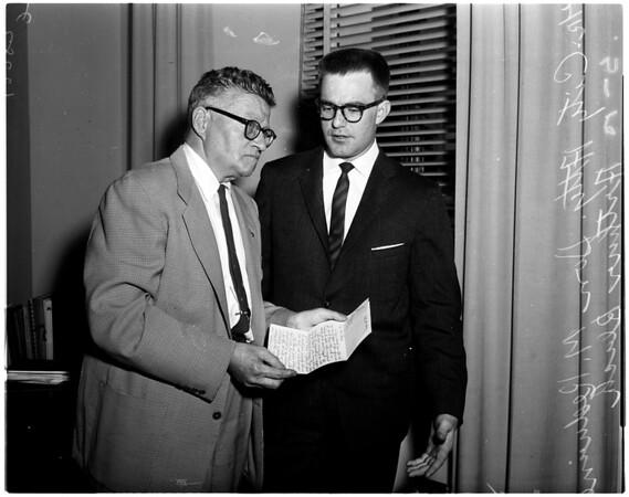 Mickey Cohen slugging, 1958
