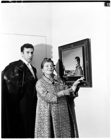 Society...Mrs. Robinson and artist, 1958