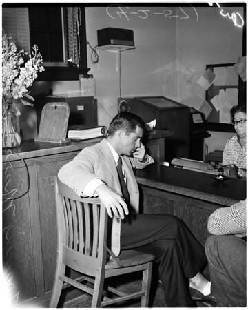 Eva Bartok complaint to Hollywood police, 1957