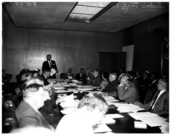 University of California Los Angeles regents meeting, 1958