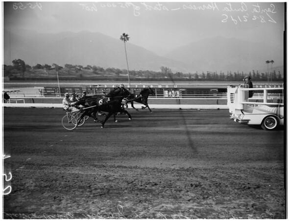 Horses -- race -- Harness -- $15,000 trot, 1958