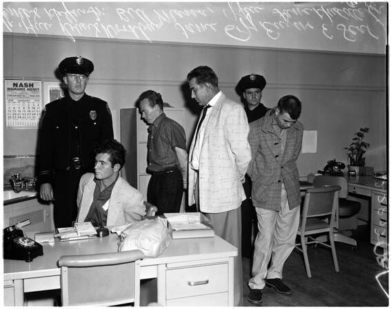 Robbery suspects, 1958