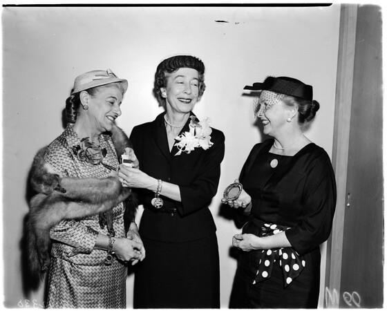 Volunteers meeting, 1958