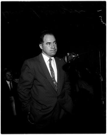 Hearing on coroner's office, 1958