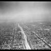 Air views of Harbor Freeway at 42nd Street South, 1957