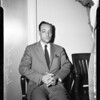 Credit manager arrested on embezzlement from department store, 1957
