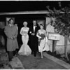 Mansfield -- Hargitay wedding, 1958