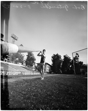 Pole vault feature, 1957