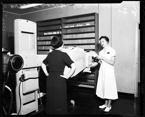 New x-ray camera, 1957.