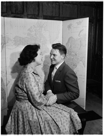 German couple married (sponsored by church congregation), 1958