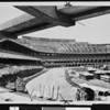 Construction of the New Dodgers Stadium in Chavez Ravine, Los Angeles
