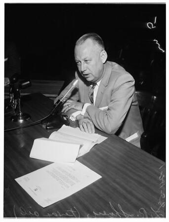Oil land hearing, 1958