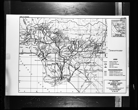 Whittier Narrows dam project (copy), 1957