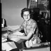 New Santa Fe Springs councilwoman at L.A. City Hall job, 1957