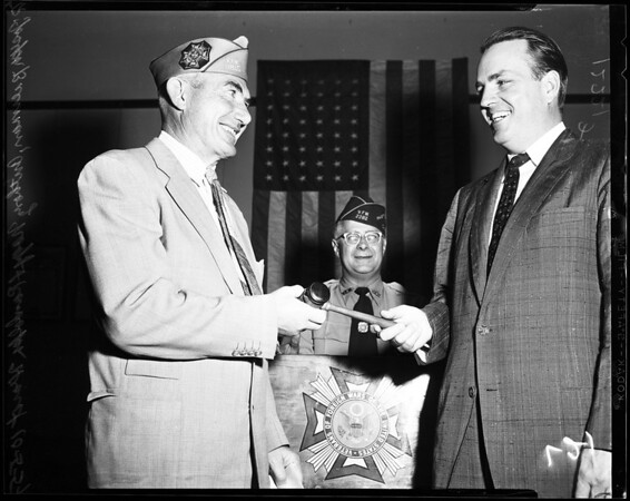 Institution of William R. Hearst Post Number 9815 VFW, 1957
