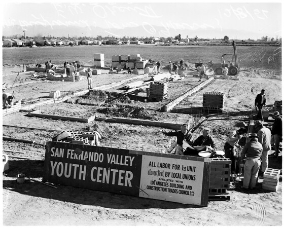 San Fernando Valley Youth Center (built by volunteer workers), 1956