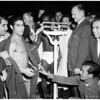Boxing - weigh in for Hogan Kid Bassey, Pajarito Moreno, 1958