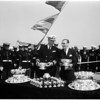 Silver Service to USS Columbus at Navy shipyard, 1957
