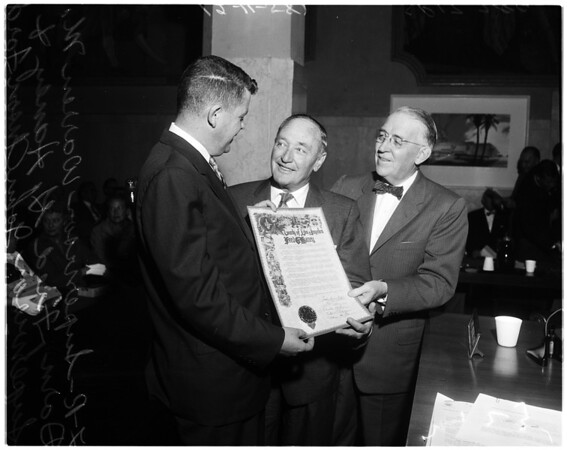 Haney honored, 1958