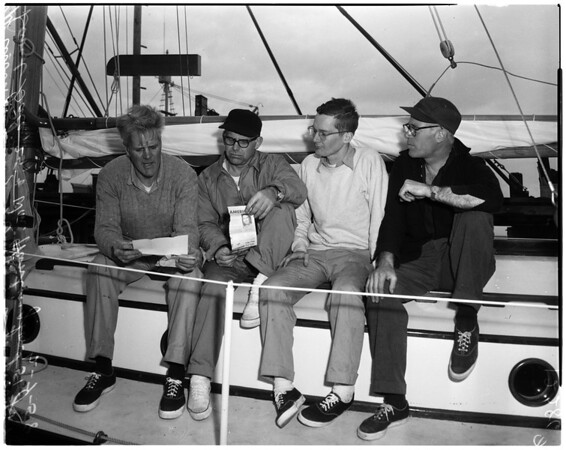 Will sail on ketch to bomb area, 1958