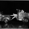 Stalled fire truck at Jefferson and Centinella, 1958