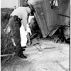 Truck driver killed in Pacific Electric and truck accident, 1958